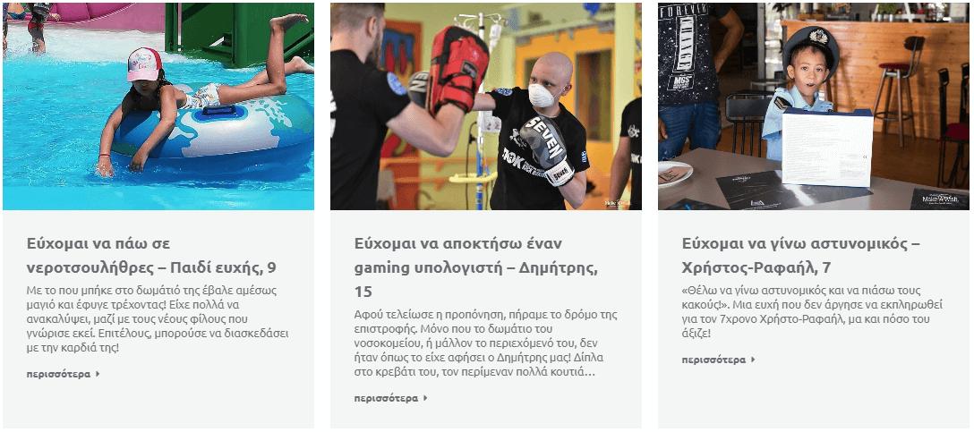 makeawish greece ευχές νεροτσουλήθρες πισίνα gaming υπολογιστής αστυνομικός | YouBeHero