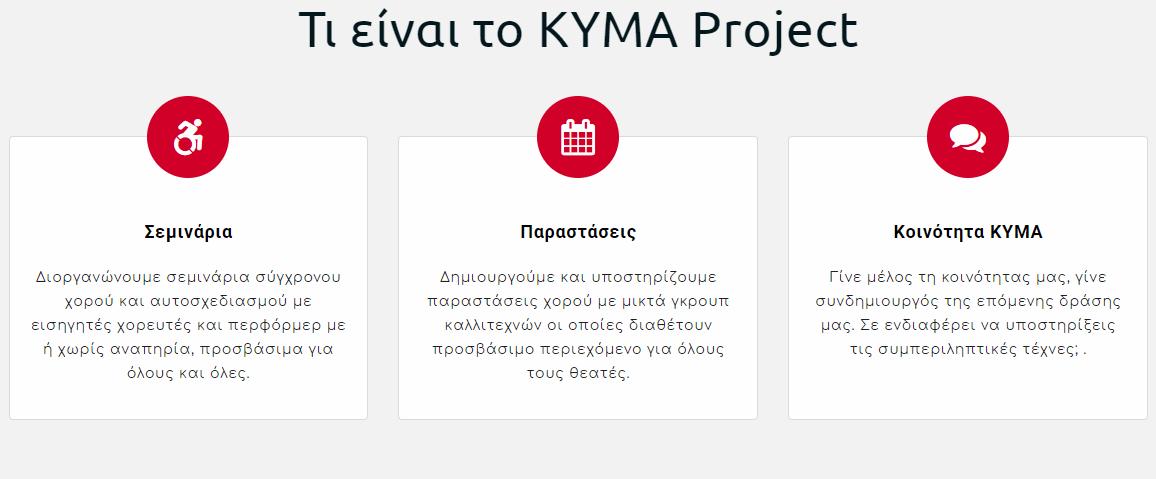 Το kymaproject διοργανώνει σεμινάρια σύγχρονου χορού, παραστάσεις χορού με γκρουπ καλλιτεχνών και είναι κοινότητα που υποστηρίζει συμπεριληπτικές τέχνες | YouBeHero