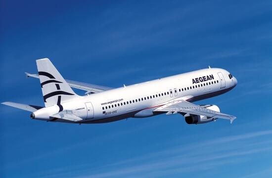 Αεροπλάνο της Aegeanair στον αέρα.Φθηνά αεροπορικά εισιτήρια | YouBeHero
