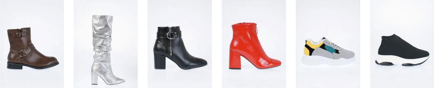 Ασημένιες μπότες μέχρι το γόνατο, χαμηλά κόκκινα μποτάκια και αθλητικά στο arte piedi | YouBeHero