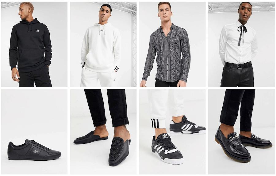 Στο asos.com θα βρεις αθλητικά ρούχα ανδρικά adidas, πουκάμισα slim fit saten, παπούτσια καθημερινά και αθλητικά lacoste adidas   | YouBeHero