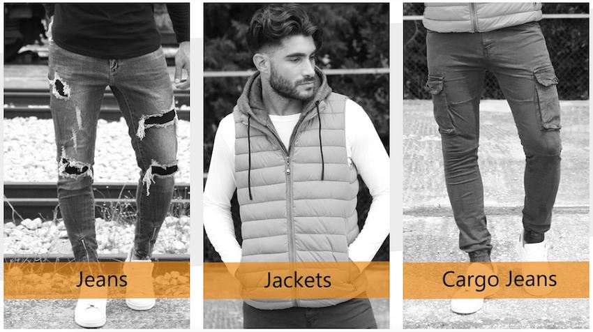 Στο be-casual.gr θα βρεις προσφορές σε ανδρικά jeans, footers, jackets, cargo jeans | YouBeHero