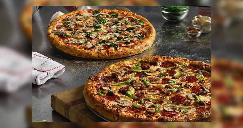 Λαχταριστές πίτσες με πεπερόνι, μανιτάρια και πιπεριές απο την dominos pizza | YouBeHero