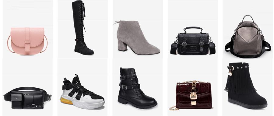 Στο dresslily.com θα βρεις παπούτσια, μπότες, αθλητικά παπούτσια, δερμάτινες τσάντες, καθημερινές τσάντες  | YouBeHero