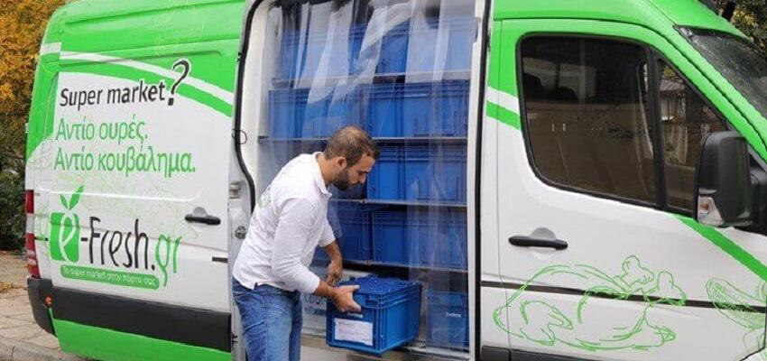 Τα ειδικά φορτηγάκια του e-fresh διαθέτουν και ψυγεία για την μεταφορά ευαίσθητων προιόντων. | YouBeHero