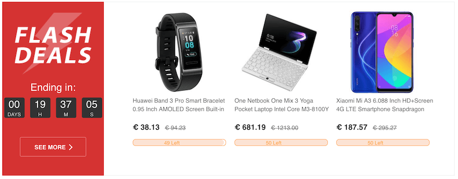 Στο geekbuying.com θα βρεις flash sales fitness band huawei, netbook one, xiaomi smartphones | YouBeHero