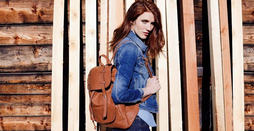 Τζίν μπουφάν και δερμάτινη τσάντα ώμου απο τα spartoo.gr | YouBeHero
