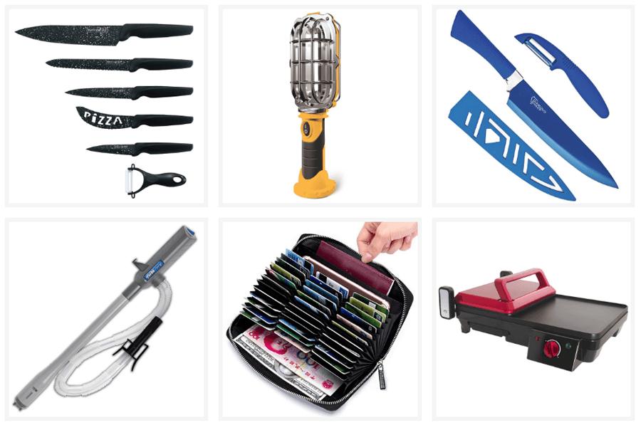 Στο tv-shop.gr θα βρεις σετ μαχαίρια με μαρμάρινη επίστρωση, πολυχρηστικός ασύρματος φακός, Σετ μαχαίρι σεφ και αποφλοιωτής με κεραμική επίστωση, αντλία αυτόματης μεταφοράς υγρών και αερίων, δερμάτινο πορτοφόλι, grill  | YouBeHero