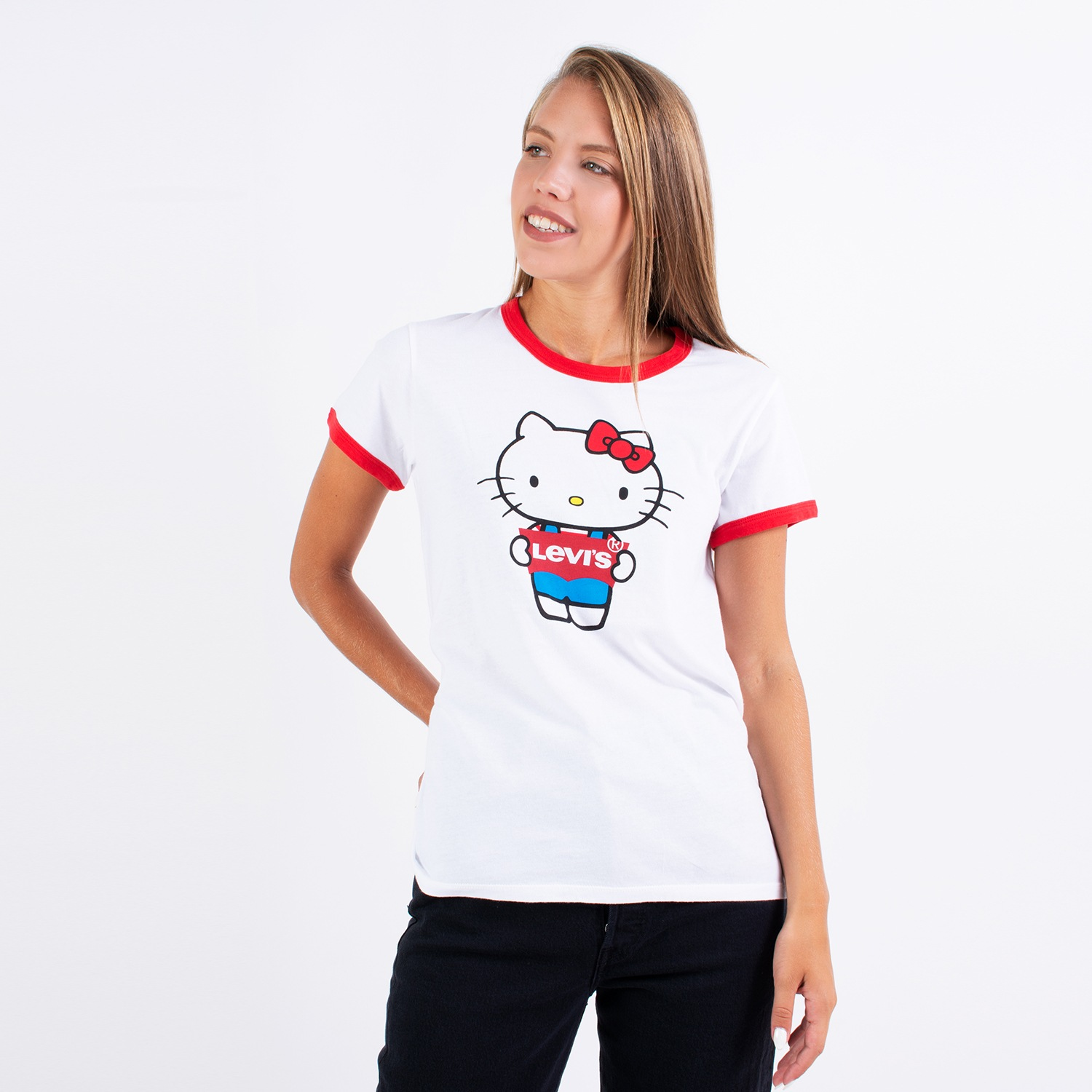Sneaker10 - Levi's x Hello Kitty Women's T-shirt - Παιδική Μπλούζα